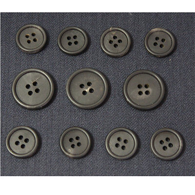 100 pcs  15mm 20mm Horn Black 4 holes Round Buttons Blazer Button