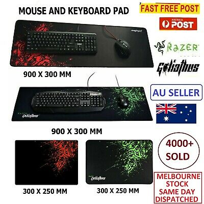 Razer PC Computer Desktop Mouse Mat Pad Wireless USB Gaming Keyboard Mouse Aus
