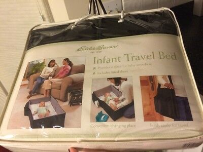 NEW Eddie Bauer Infant Travel Bed (Portable Crib, Play & Diaper Change) 3 in 1