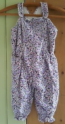 Monsoon beautiful floral playsuit / jumpsuit / dungarees. Age 2-3 years.