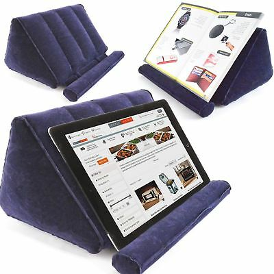 Inflatable Book And Tablet Holder Portable Travel Folds Compact eReader Cushion