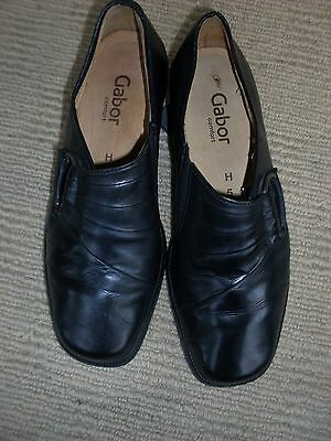 As New Planet Shoes Black Leather Flats, Size 7  W