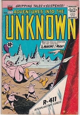 Mrj/ Adventures Into The Unknown #145 Dec 1963 Paul Reinman Chic Stone Vg