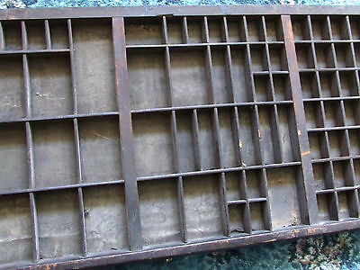 Letterpress Printing VERY OLD WOODEN TYPECASE Made by G. Pallister of Leeds