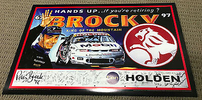 Peter Brock 1997 Bathurst Holden King Of The Mountain Poster