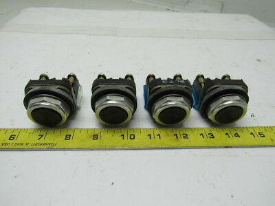 Allen Bradley 800T-A Series T Black Push Button switch W/N/O Contact  Lot of 4