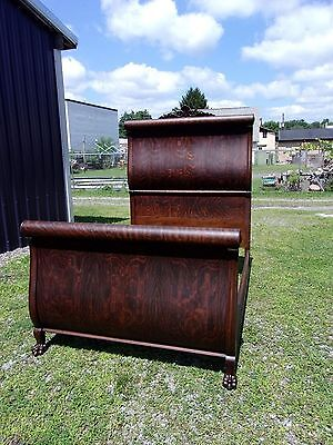 Antique Oak Bed Serpentine Claw Feet-Original Finish-Selling Out Make Offer