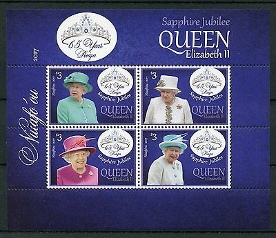 Niuafo'ou 2017 MNH Queen Elizabeth II Sapphire Jubilee 4v M/S Royalty Stamps