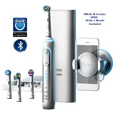 Braun Oral B Genius 9000 - Bluetooth with 4 Brush Heads included, UK Seller