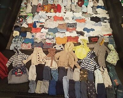 baby boys 3-6 months clothes bundle 163 items