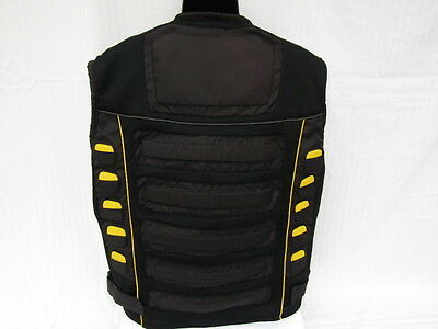 X Element Motorcycle Vest, Tri-Tex Mesh Padded, Yellow Highlight , 2 X Large