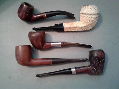 Lot of 5 Vintage Tobacco Estate Pipes For Repair/Restore/Parts