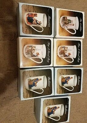 Norman Rockwell Collection  7 cups.  All New in box Collector's Porcelain Mug