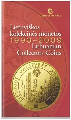 Bank of Lithuania official booklet 1993-2017 Lithuanian coins