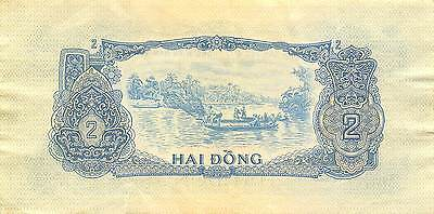 Viet Nam  2  Dong  ND. 1960's  Series HY circulated Banknote G10C