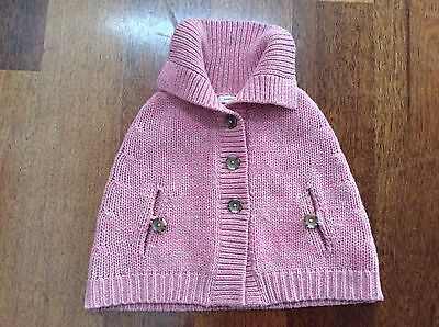 COUNTRY ROAD Girls wool winter Poncho - 100% Lambswool - Size 5