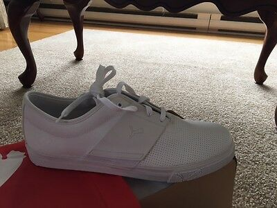 Men's White Puma Running Shoes, Size 13