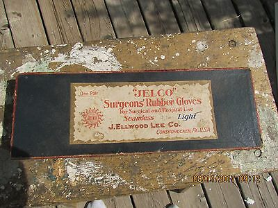 Antique Jelco Surgeons Rubber Gloves Box