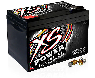 XS Power XP1000 16V AGM 2400 Amp Sealed Car Audio Battery/Power Cell+Terminal