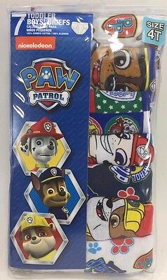 Handcraft Little Boys' Toddler Paw Patrol Brief Pack of Seven Assorted 4T