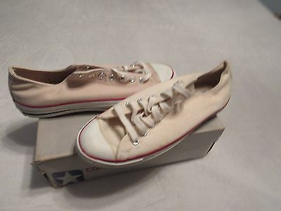 Nib Vintage Converse All Star Chuck Taylor Silver Box Made In Usa Shoes 11.5