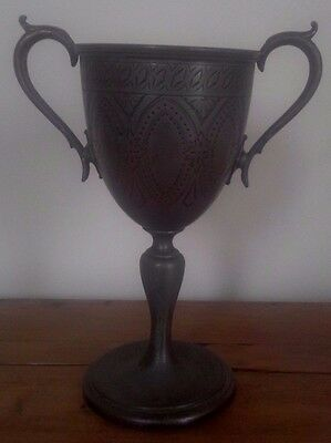 Vintage large silver plate trophy, silver, trophy, NOT ENGRAVED
