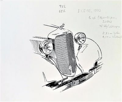 Dodge 1933 Original Sketch / Drawing By Gunnar A Sjogren Gas