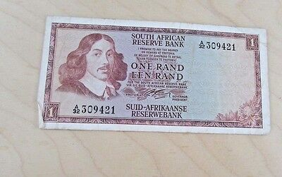 South African Reserve Bank One Rand-Een Rand 309421 Paper Banknote