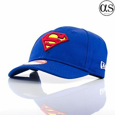 Kids Infant New Era 9FORTY 'Comic Hero' Superman Blue/Red/Yellow Curved Cap