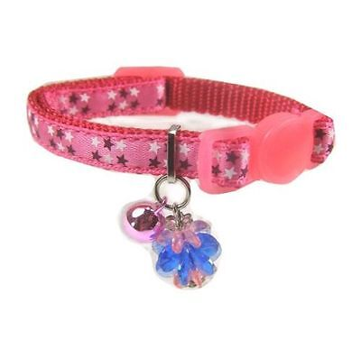 Ancol Stars Kitten Safety  Collar with Jewel & Bell Pink