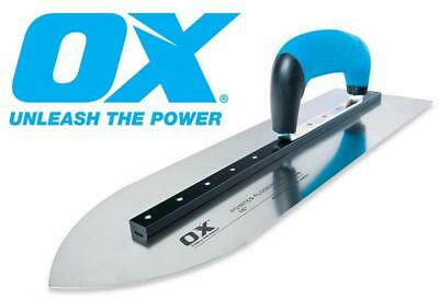 "OX PRO Pointed Concrete Flooring Trowels Riveted Stainless Steel 16"" or 18"""