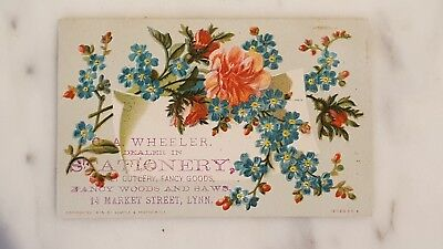 Antique Victorian Advertising Card C.A. Wheeler Stationery & Fancy Goods