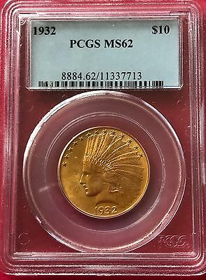 1932 Indian Head $10 Gold Eagle Brilliant Uncirculated PCGS MS62