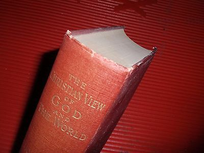 Antique Religious Book 1893   The Christian View Of God And The World  James Orr