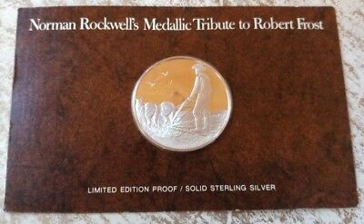 Norman Rockwells Medalic Tribute 1974 The Gift Outright Silver Robert Frost