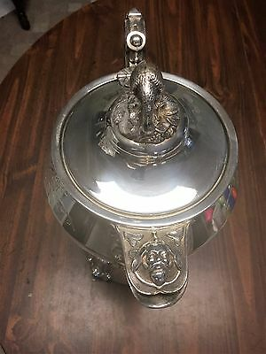 Rare Jas. Stimpson silver plated water pitcher Patented by Jas. Stimpson in 1854