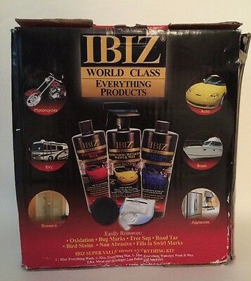 IBIZ World Class Everything Products Super Value Home Car Cleaning Kit NEW