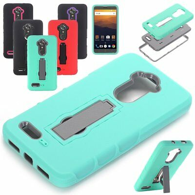 For ZTE Max XL N9560/Carry Z981/MAX Pro Cover Shockproof Hybrid Rubber Hard Case