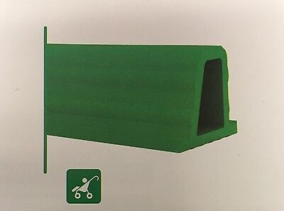"2 Pieces - PVC Wheel Stops - 3-17/32"" x 4-15/32"" x 19-11/16"" Lengths - Green"