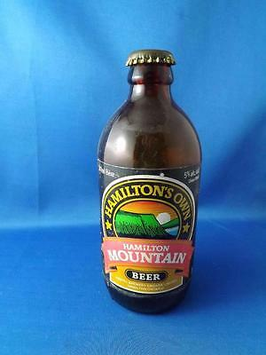 Stubby Beer Bottle Brown Glass Hamilton Mountain Paper Label Amstel Brewery