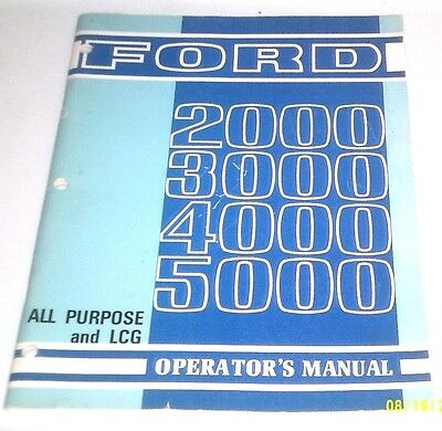 Ford Tractor Operators Manual Lcg 2000 3000 4000 5000