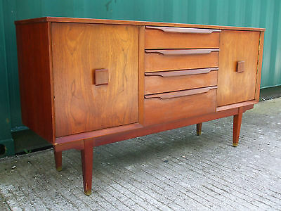 Compact mid century vintage teak sideboard, circa 1960, ideal for smaller homes