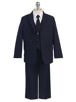 Boys navy 5-piece suit - 4T - New with tags