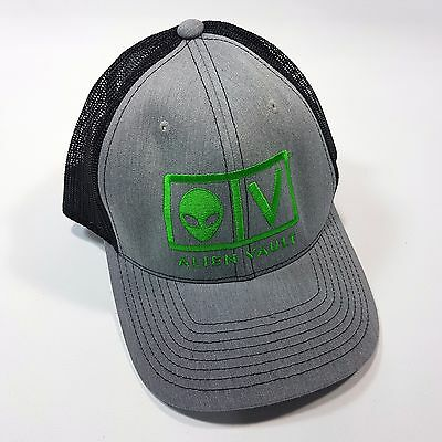 Alien Vault Richardson Adjustable Trucker Hat Snap Back Gray Black