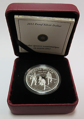 2012 Royal Canadian Mint Proof Silver $1 Dollar 200th Anniversary War of 1812