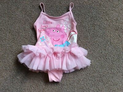 Girls 9-12 Months Pink Tutu Peppa Pig Swimming Costume