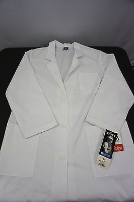 Lab Coat White Barco 1343 Womens 18 Classic 5 Pocket Knee Length Uniform