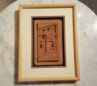 Framed Artist Signed Paper Art Mesa Verde Cliff Dwelling Grandfather's House