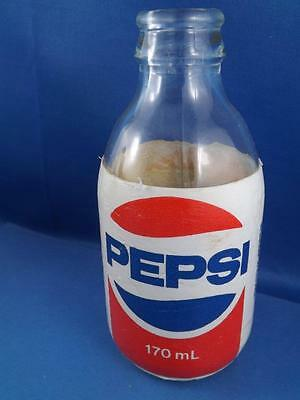 PEPSI COLA GLASS STYROFOAM COVERED BOTTLE SMALL 170ml TORONTO  SODA POP