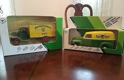 2 John Deere Truck Banks 50s Panel Delivery, Agricultural Implements No 103